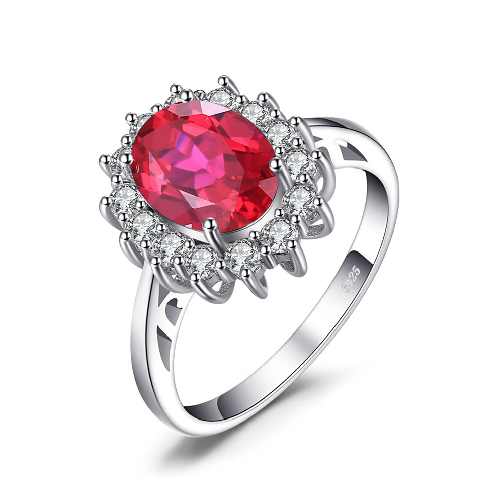 Ruby Princess Diana Inspired Oval Cut Ring - Gifti | Gifts they will love