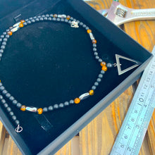 Load image into Gallery viewer, Hematite Triangle and Tigers Eye Necklace - Sharpman - Gifti | Gifts they will love