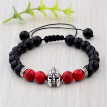 Load image into Gallery viewer, Sharpman Spartan Bracelet - Red & Black Stones - Gifti | Gifts they will love