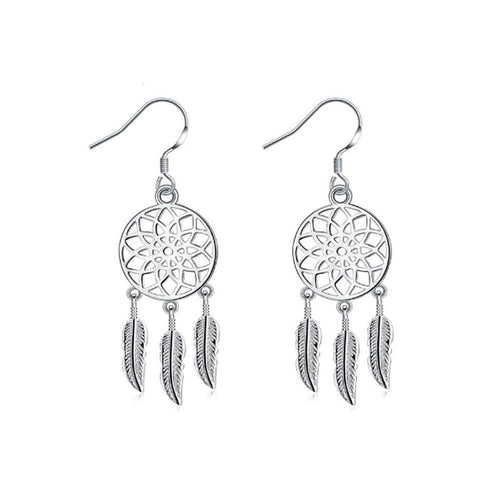 Dream Catcher Earrings - Silver - Gifti | Gifts they will love