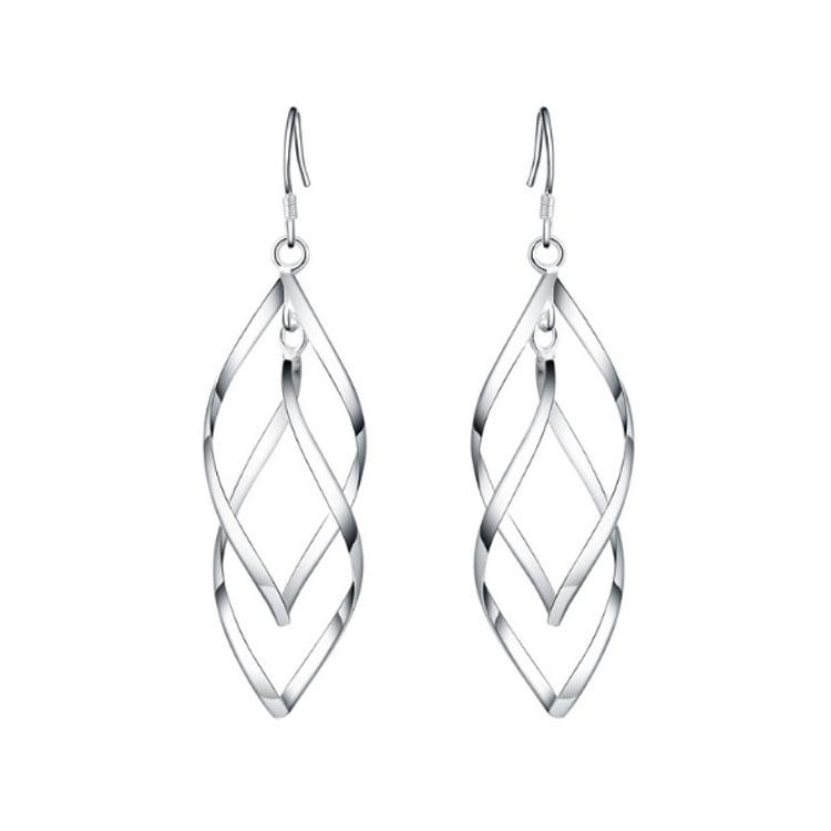 Intertwined Elegant Earrings - Silver - Gifti | Gifts they will love