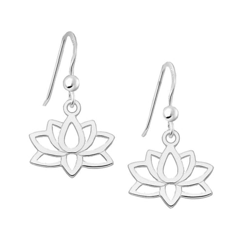Lotus Flower Earrings - 925 Silver - Gifti | Gifts they will love