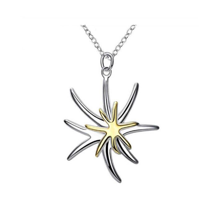 Star Flower Pendant & Necklace - 925 Silver - Gifti | Gifts they will love