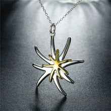 Load image into Gallery viewer, Star Flower Pendant & Necklace - 925 Silver - Gifti | Gifts they will love