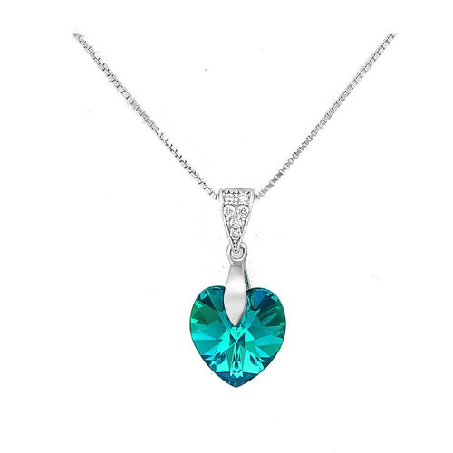Swarovski® Crystal Heart Pendant & Necklace - 925 Silver - Gifti | Gifts they will love