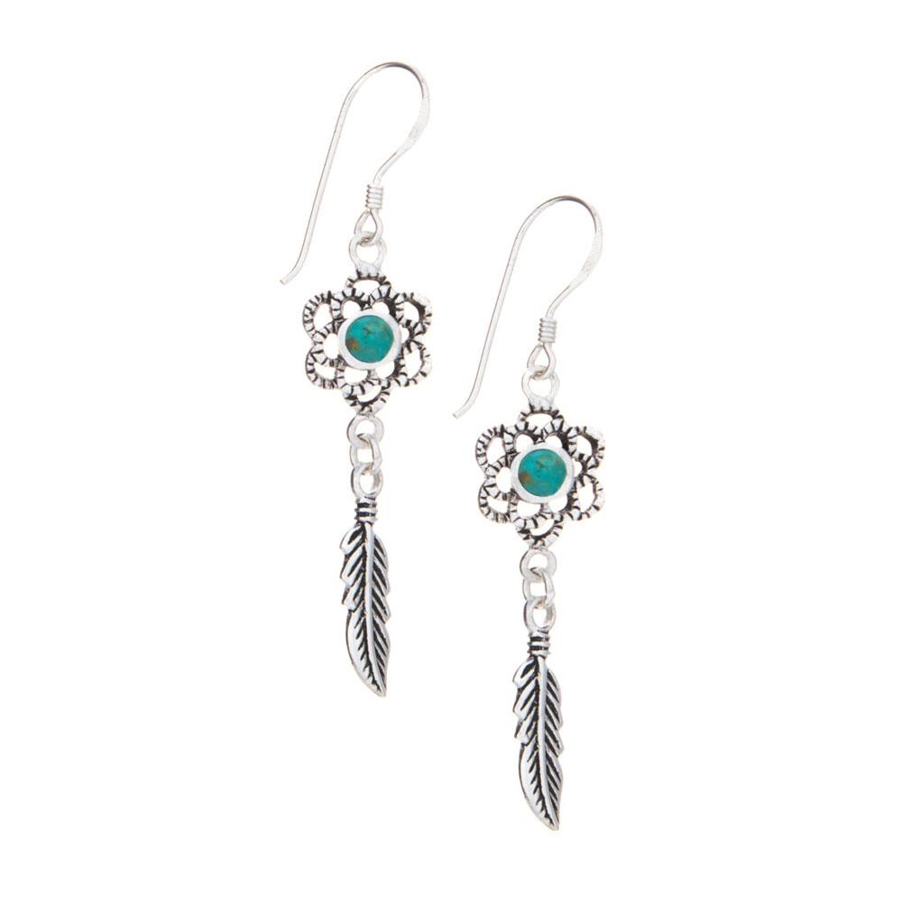 Dream Catcher Turquoise Earrings - 925 Silver - Gifti | Gifts they will love