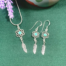 Load image into Gallery viewer, Dream Catcher Turquoise Earrings - 925 Silver - Gifti | Gifts they will love
