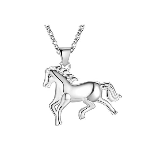 Wild Horse Pendant & Necklace - 925 Silver - Gifti | Gifts they will love