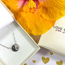 Load image into Gallery viewer, Yin-Yang Pendant & Necklace with Cubic Zirconia & Rhodium Plated - 925 Silver - Gifti | Gifts they will love