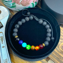 Load image into Gallery viewer, Sharpman Chakra Bracelet - Black Lava Stones & Healing Stones - Gifti | Gifts they will love