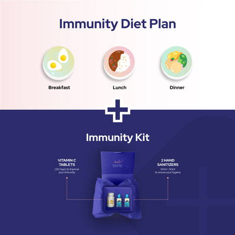 CureSkin Immunity Kit for Better Health (Vitamin C + 2 Pocket Sanitizers + Diet Consultation)