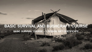 Basic Survival Course - Gift Card - Texas Adventure and Survival
