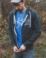 ADVENTURES - Unisex Bamboo Zip Up Hoodie