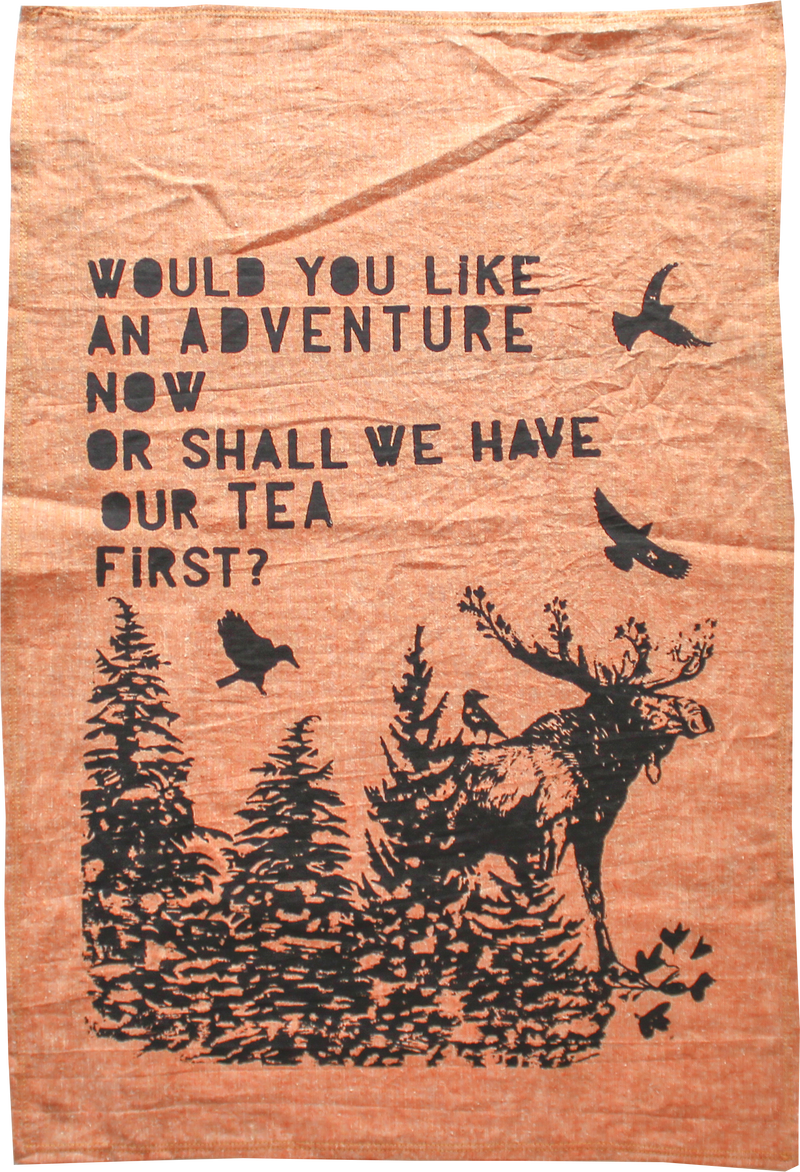ADVENTURE - Organic Cotton & Hemp Tea Towel