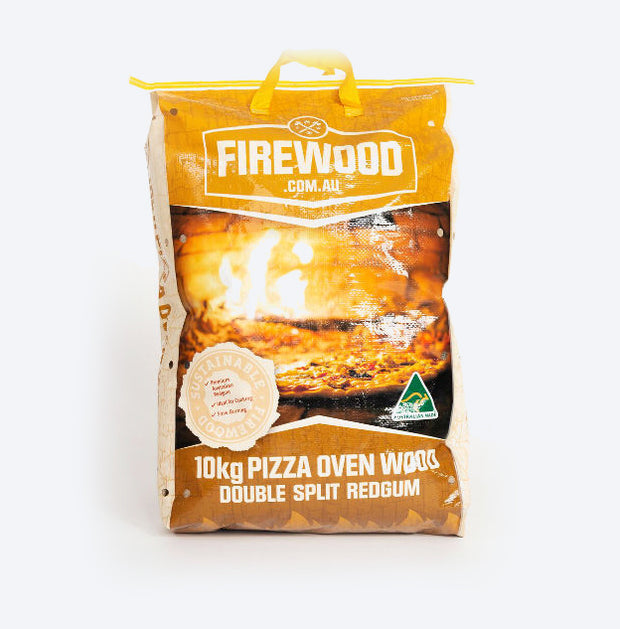 Bagged Pizza Oven: Double Split Redgum 10kg