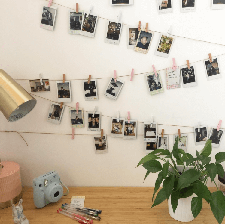 photo, photo art, camera, polaroid, photo string art, Instagram, pictures, wall drop, memories, pictures