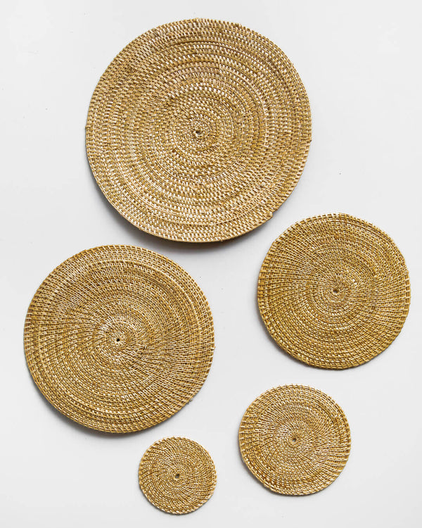 Grass Coasters & Placemats Set
