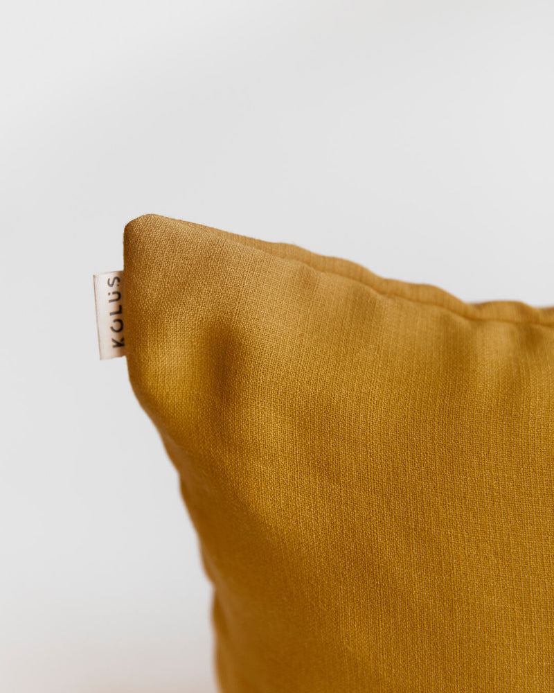 Pluto Mustard Cushion Cover