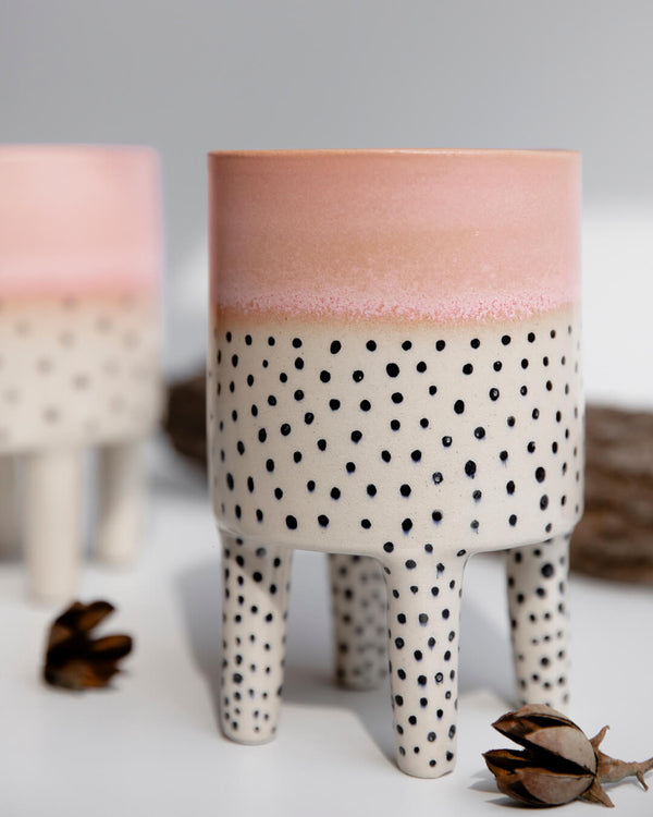 Aida Legged Indoor Ceramic Pot