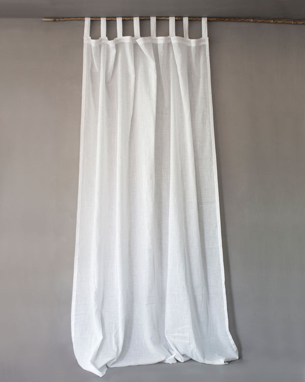 Plain white cotton curtains for bedroom or living room
