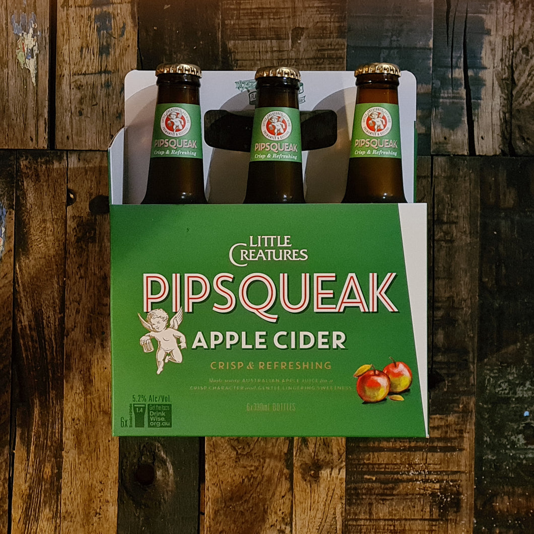 Little Creatures 'Pipsqueak' Apple Cider Bottle 330mls