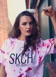 SKCH BURGUNDY CRUMPLE T-SHIRT
