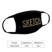 Load image into Gallery viewer, BLACK & GOLD FACE MASK - UNISEX