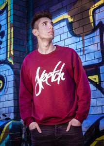 BURGUNDY SKETCH SWEATSHIRT