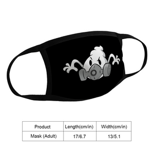 SKETCH GHOST FACE MASK - UNISEX