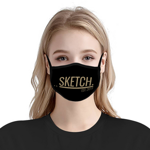 BLACK & GOLD FACE MASK - UNISEX
