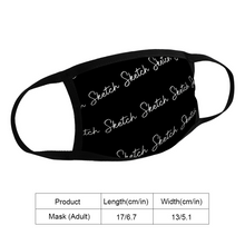 Load image into Gallery viewer, SCRIPT FACE MASK - UNISEX