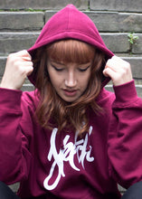 Load image into Gallery viewer, BURGUNDY SKETCH HOODIE