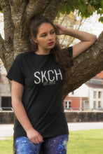Load image into Gallery viewer, SKCH BLACK SCRIPT T-SHIRT