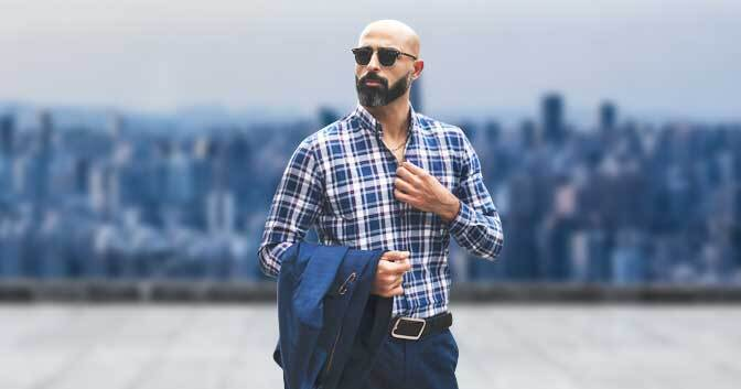 Dapper Beard Styles for Bald Men