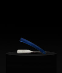 Stainless Steel Straight Razor - Royal Blue Finish