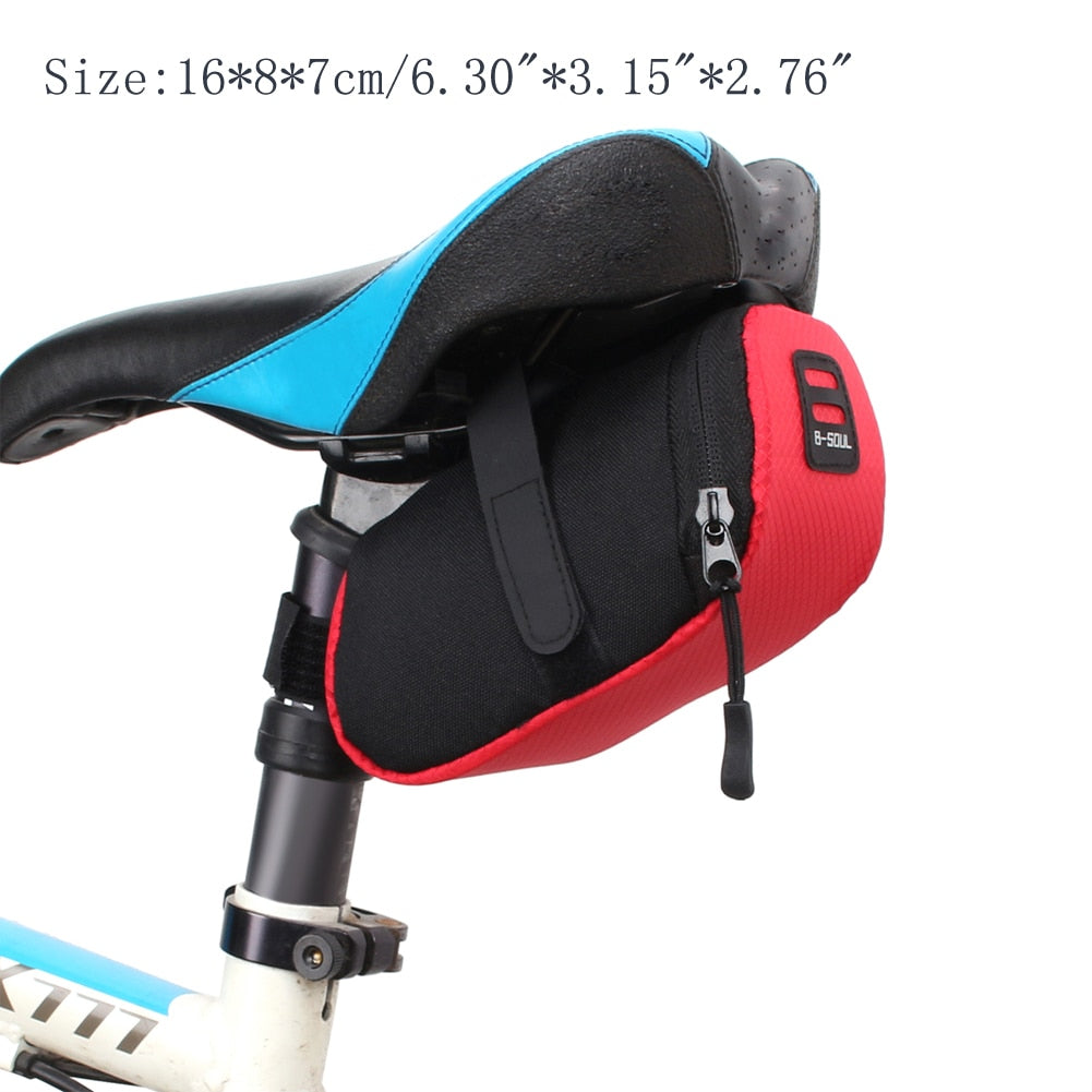 Bicycle Bike Waterproof Seat Saddle Bag Outdoor Cycling Tail Rear Nylon Pouch