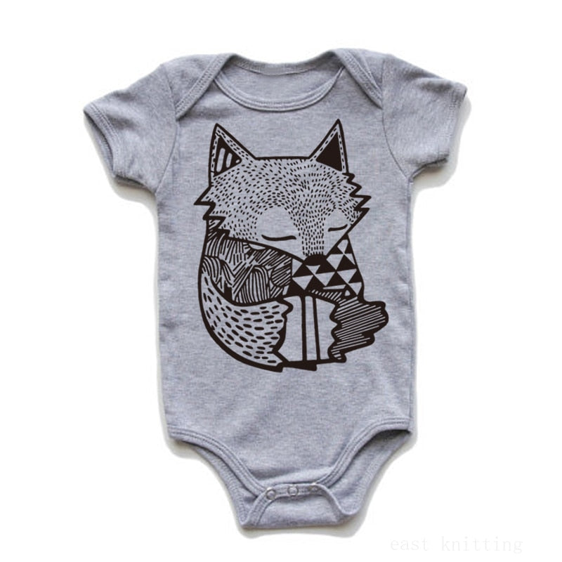Newborn Infant Baby Kid Girl Boy Leopard Print Clothes Romper Jumpsuit Outfits