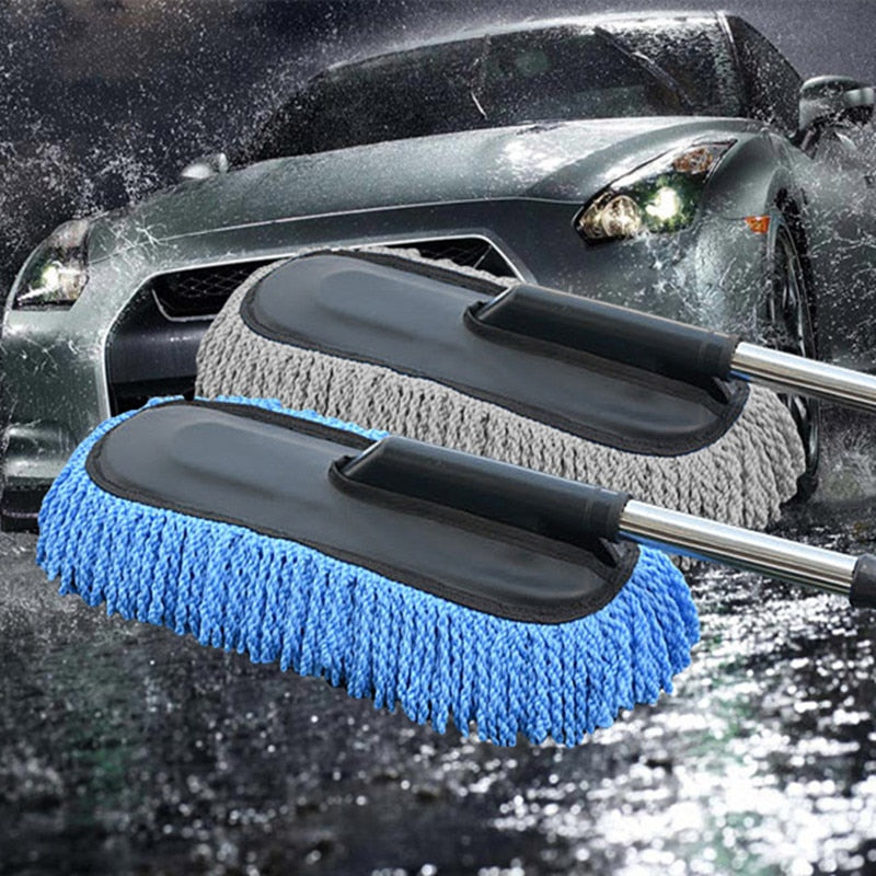 Car Special Wax Tow Cleaning Mop Tweezers Soft Hair Retractable Water Long Handle Dust Removal Car Wash Brush