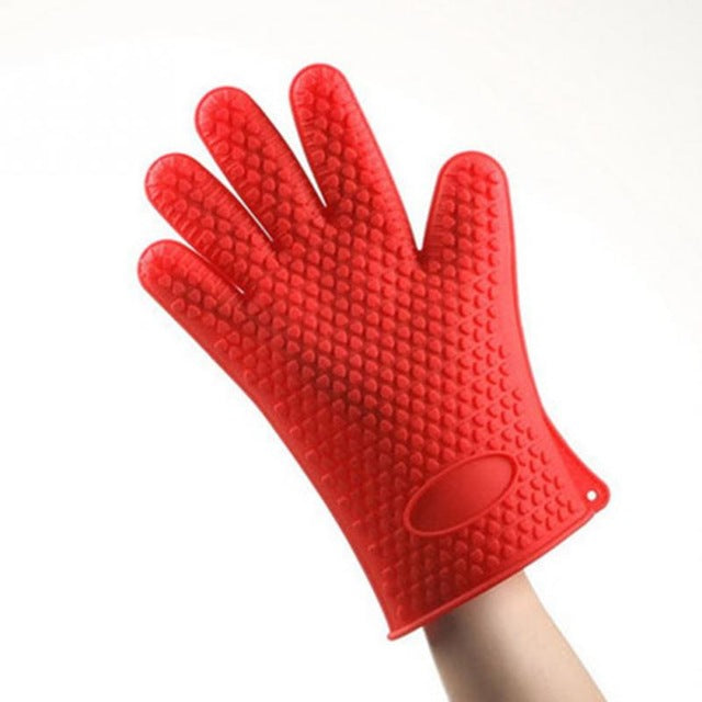 1Pcs Heat Resistant Silicone Glove