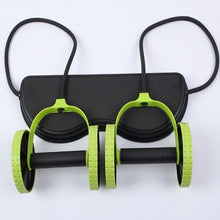 Load image into Gallery viewer, Fitness AB Roller Muscle Trainer Resistance Pull Rope Wheels Home Belly Workout