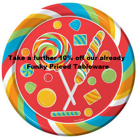 Special 10% off Tableware including Themed Ranges