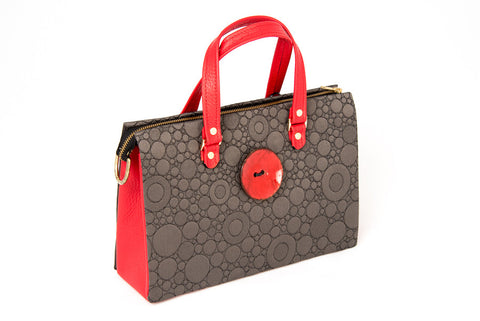 IVY Fabric and Leather Handbag