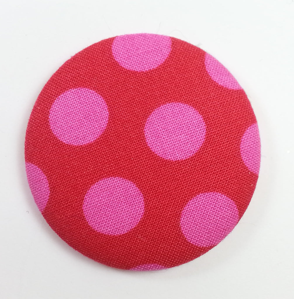 POPPET 30 Red with Pink Dots Cotton