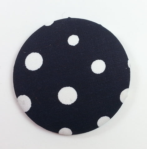 POPPET 33 Navy with White Dots Cotton