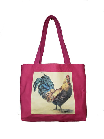 Pink Rooster Tote $25