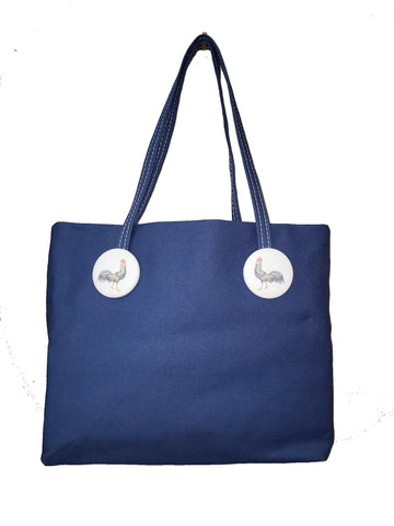 Rooster Tote, Red or Blue $20