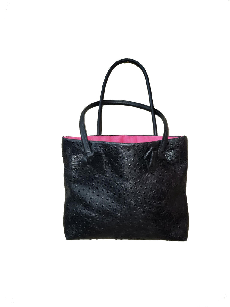 Black Bow Leather Tote $25