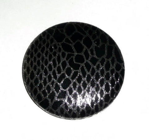 POPPET 61 Black and Silver Snakeskin PU