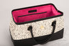 MAGNOLIA Leather and Tapestry Doctor Bag Black or Red