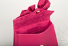 PEONY Leather Top Handle Handbag with Bow in Fucshia or Red